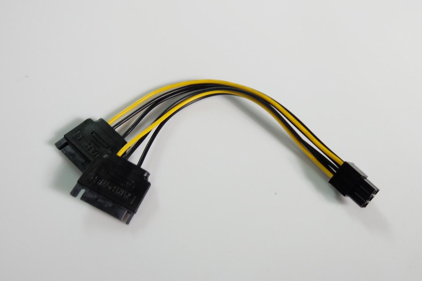 สายแปลง Power Sata 2 หัว to 6Pin VGA