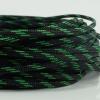 สายถัก 4 MM สีดำแถบเขียว