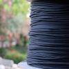สายถัก 4 mm กลม สีดำ