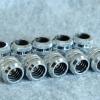 Fitting ท่ออคริลิค14mm สีเงิน ชุด10ชิ้น แหวน4ชั้น