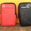 """กระเป๋าใส่Ext HDD ขนาด 2.5 """" Seagate สีดำ-สีแดง"""