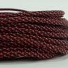 สายถัก 4 MM สีดำสลับแดง