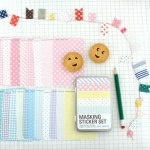 Masking Sticker Ver.Pastel สติ๊กเกอร์ตกแต่ง 27 แผ่น แบบรีฟิว
