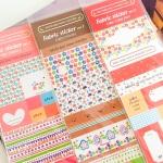 Fabric Sticker สติ๊กเกอร์ผ้าสำหรับตกแต่ง 3 แผ่น