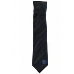 เนคไทแมนเชสเตอร์ ยูไนเต็ดของแท้ Manchester United Crest Striped Tie Navy-Black Polyester