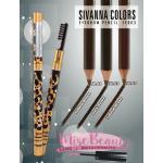 SIVANNA เขียนคิ้วปลอกเหล็กสีทอง 2หัว พร้อมแปรง ซิวานนา SE003