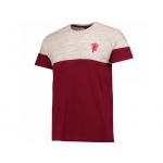 เสื้อทีเชิ้ตแมนเชสเตอร์ ยูไนเต็ด Vintage Colourblock T-Shirt สีแดงเบอร์กันดี้ของแท้