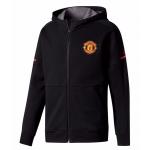 เสื้อฮู้ดแมนเชสเตอร์ ยูไนเต็ด แจ็คเก็ตแอนธีมสีดำของแท้ 100%