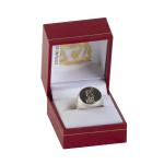 แหวนที่ระลึกลิเวอร์พูล ของแท้ 100% Liverpool FC Round Silver Liverbird Ring - Small