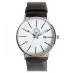 นาฬิกาข้อมือแมนเชสเตอร์ ซิตี้ของแท้ Manchester City Modern Metal Leather Strap Watch
