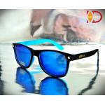 แว่นกันแดด Glassy Sunhaters : Leonard Black / ฺBlue / Blue Mirror (ขาสปริง)