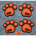 กันกระแทก สติ๊กเกอร์ รอยเท้าหมี น่ารักๆ (สีส้ม)