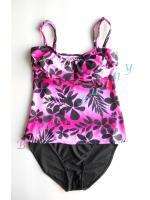 Sale bk751 ชุดว่ายน้ำสีชมพูลายดอก พร้อมส่ง Size L --> Leilani