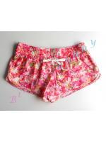 sh500 กางเกงผ้า cotton สีชมพูลายดอก Size L --> The sea