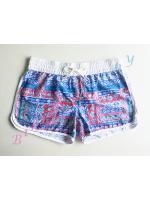 รหัส sh560 (Size L สะโพก 39-41 นิ้ว) กางเกงเซิร์ฟลายแนวโบฮีเมี่ยนโทนสีฟ้าน้ำเงิน ขอบขาว --> Now