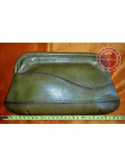 B65:Vintage leather clutch bag กระเป๋าคลัทช์หนังแท้