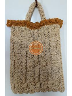 B63:Handmade bag กระเป๋าถือน่ารัก/กระเป๋าถักเชือกร่มดิ้นทอง สินค้าใหม่ค่ะ