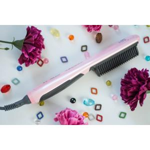 Straightener hair สีชมพู