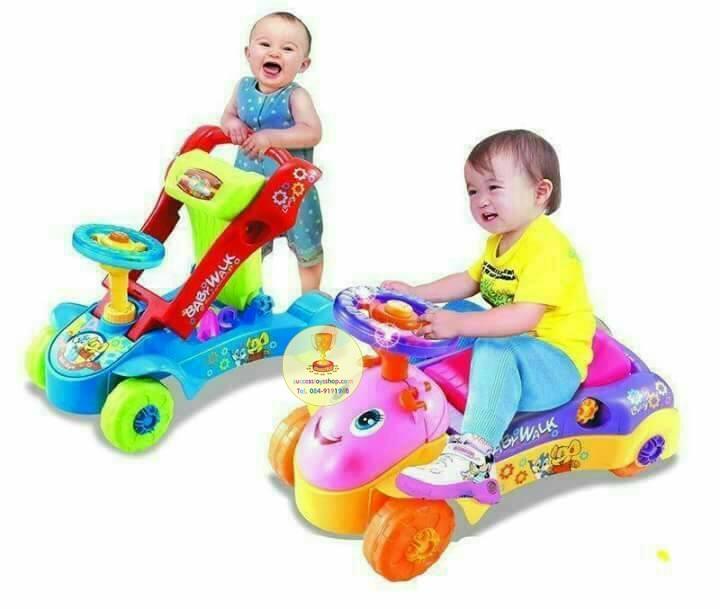 รถเด็กผลักเดิน+รถนั่งขาไถมีเสียงดนตรี
