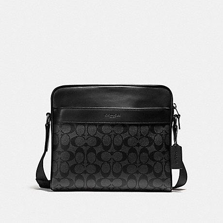 กระเป๋าผู้ชาย COACH CHARLES BAG IN SIGNATURE CANVAS F28456 : BLACK