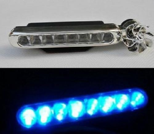 ไฟ LED พลังลมติดรถยนต์ (ไฟสีฟ้า)