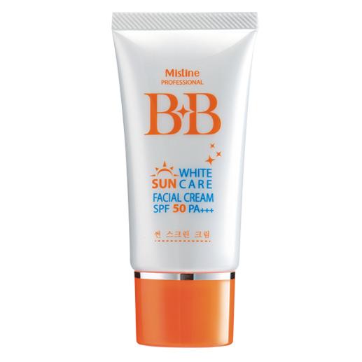 *พร้อมส่ง* Mistine BB White Sun Care SPF50 PA+++ กันแดดสูตรบีบี ผสมเมคอัพเบส ให้หน้าสว่างกระจ่างใส ท้าแดด