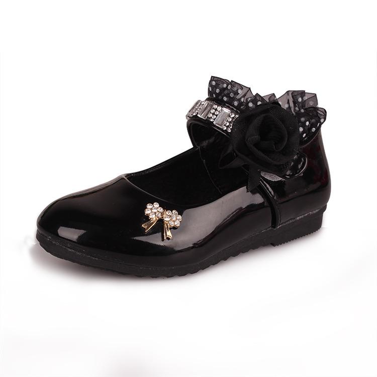 รองเท้าคัชชู หนังแก้ว สายเพชร หญิง สวยหรู Size 21-36