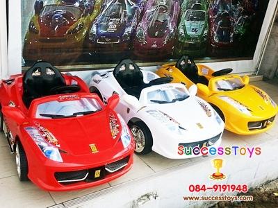 รถแบตเตอรี่เด็ก่นั่ง รุ่น1378 ยี่ห้อ เฟอรารี่ มี 3 สี แดง เหลือง ขาว