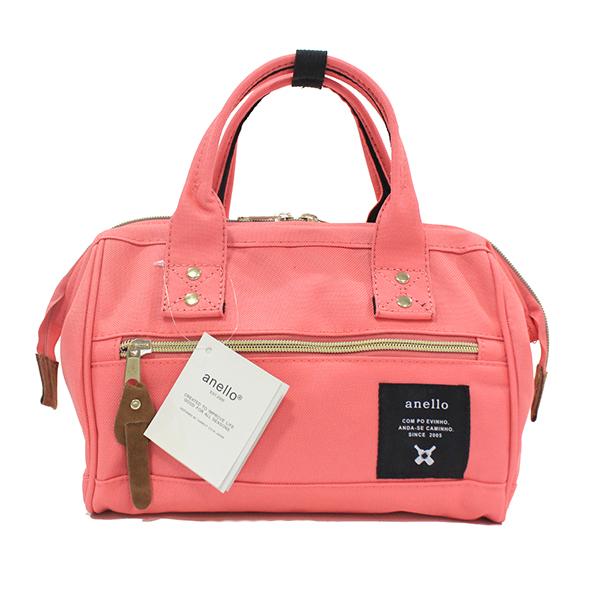 [ ลดราคา ] - กระเป๋าแฟชั่น กระเป๋าถือ&สะพาย สีชมพูโดดเด่น ไซส์กลางๆ ดีไซน์แบรนด์ anello สุดฮิต มีสายสะพายยาวปรับระดับได้