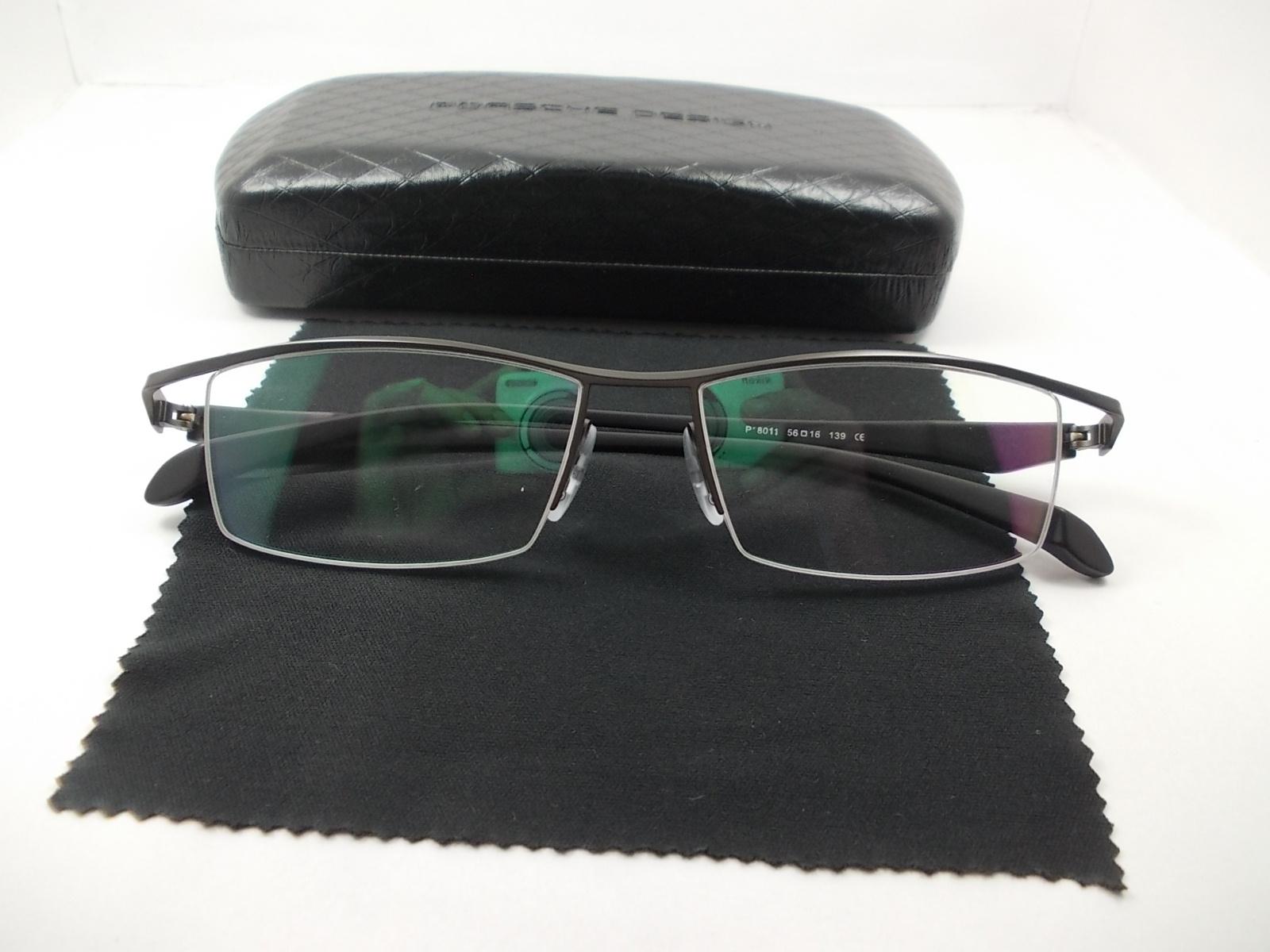 กรอบแว่นตานำเข้า P8011N กรอบเทาดำ