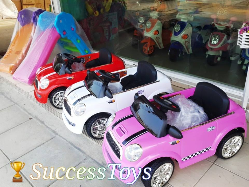 รถแบตเตอรี่เด็กนั่ง รุ่น กก3120 ยีห้อมินิคูเปอร์ มี 3 สี ชมพู ขาว แดง