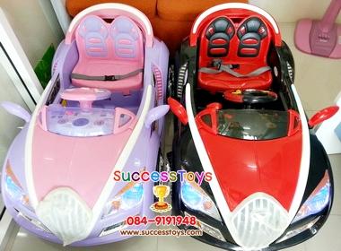รถแบตเตอรี่เด็กนั่ง รุ่น HD5659 ยี่ห้อ อัลฟ่าโรมิโอ มี 2 สี ชมพูม่วง แดงดำ
