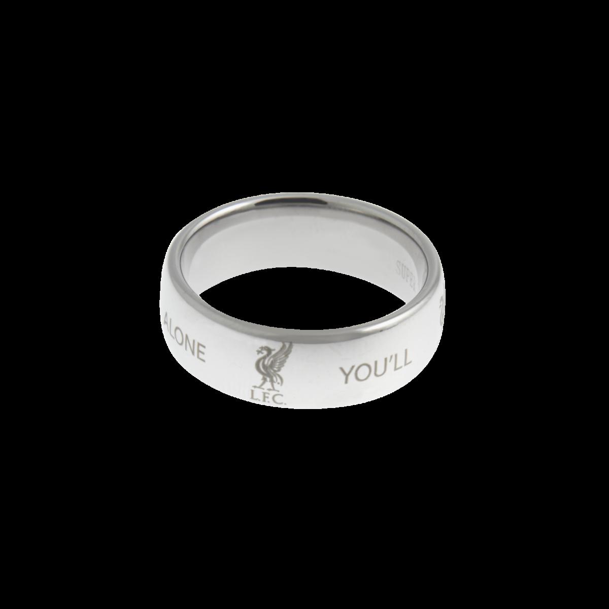 แหวนที่ระลึกลิเวอร์พูล ของแท้ 100% Liverpool FC Mens Super Titanium Band Ring