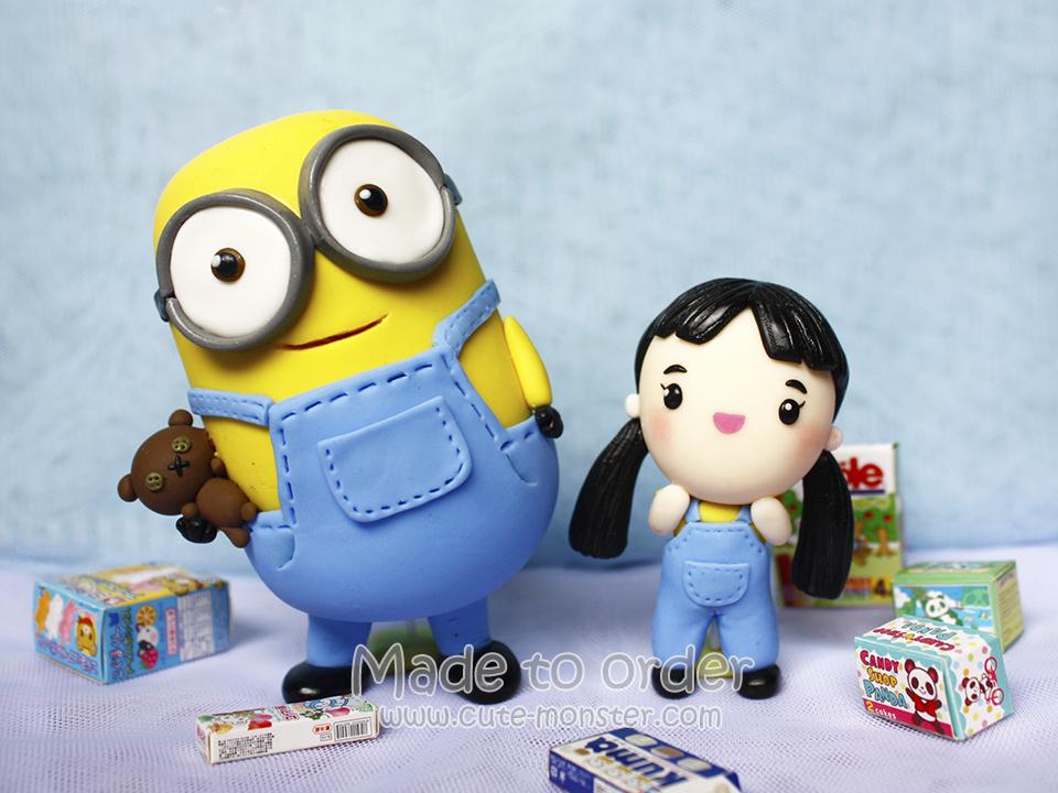 ตุ๊กตาดินปั้น โมเดล Minion งานสั่งทำ ปั้นจากดินไทย