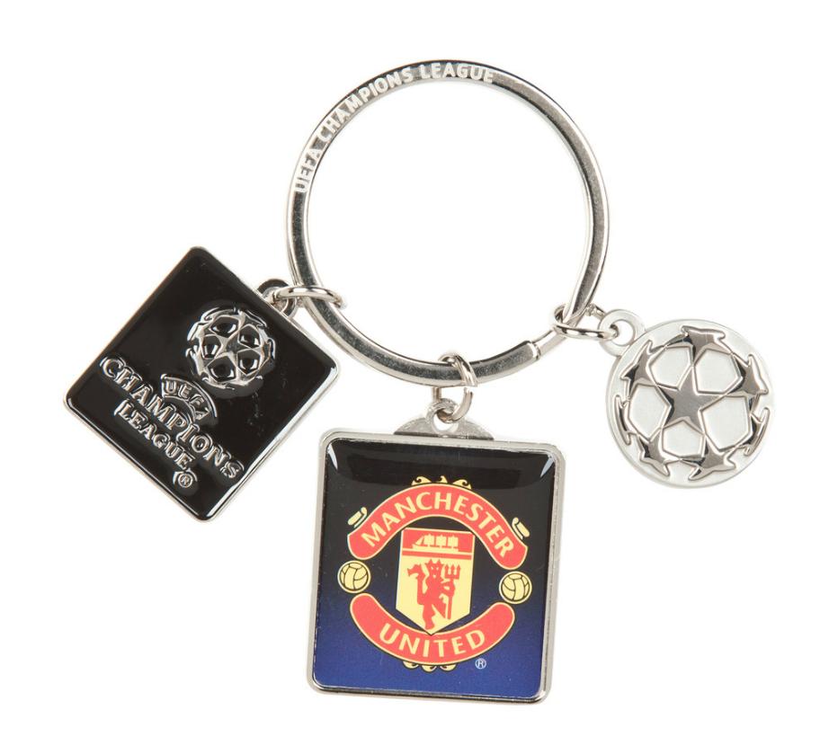 พวงกุญแจที่ระลึกแมนเชสเตอร์ ยูไนเต็ดของแท้ Manchester United Champions League 3 Piece Keyring