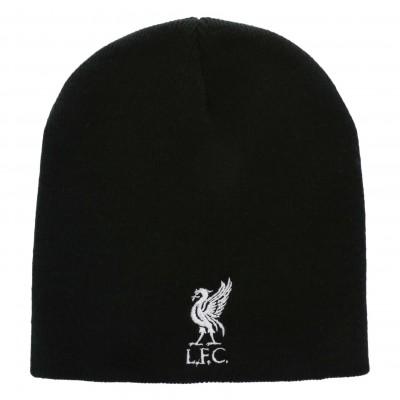 หมวกไหมพรมลิเวอร์พูล Mens Black Beanie Hat ของแท้
