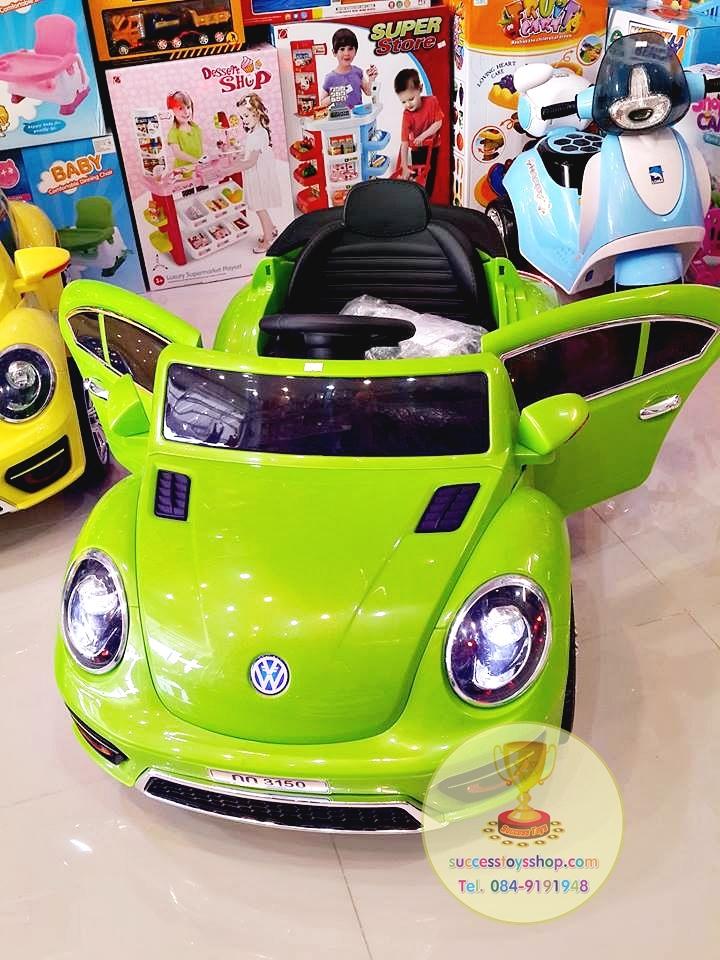 SL3150G รถแบตเตอรี่เด็กนั่งไฟฟ้า รถโฟล์ค 2มอเตอร์ สีเขียว