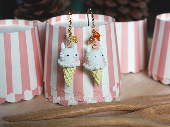ต่างหูไอศครีม Chibi totoro Ice-cream