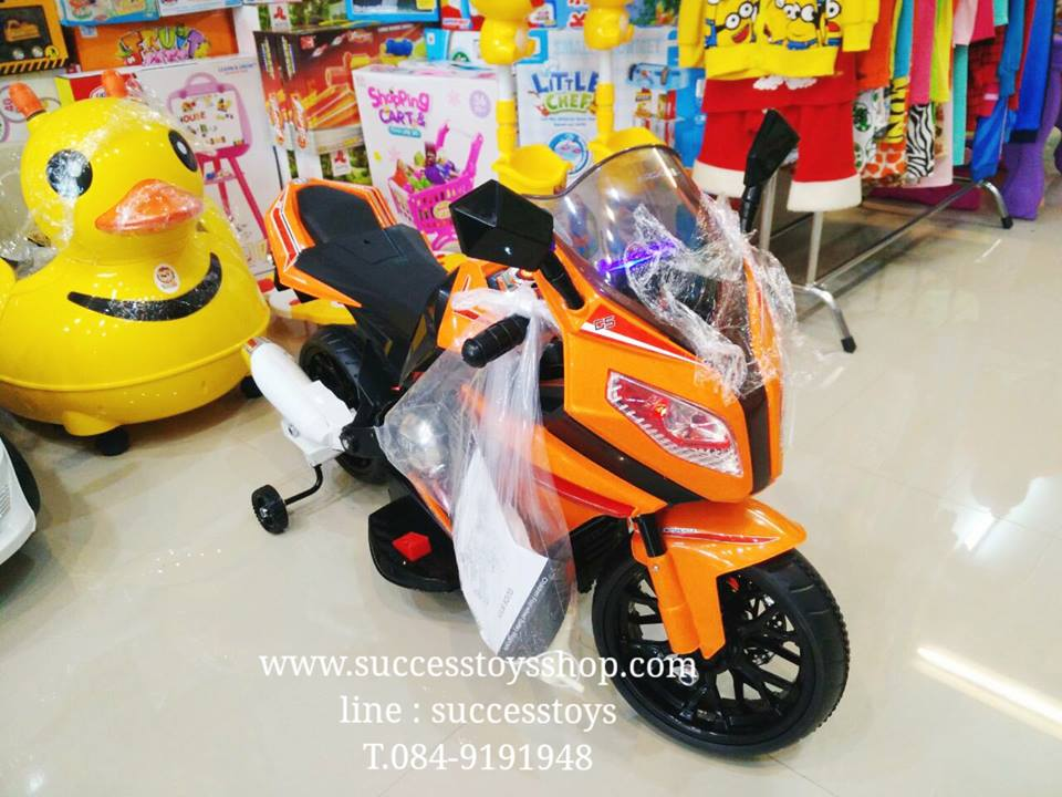 มอเตอร์ไซค์เด็กนั่ง รุ่น CH3145 SUPERBIKE2m สีส้ม