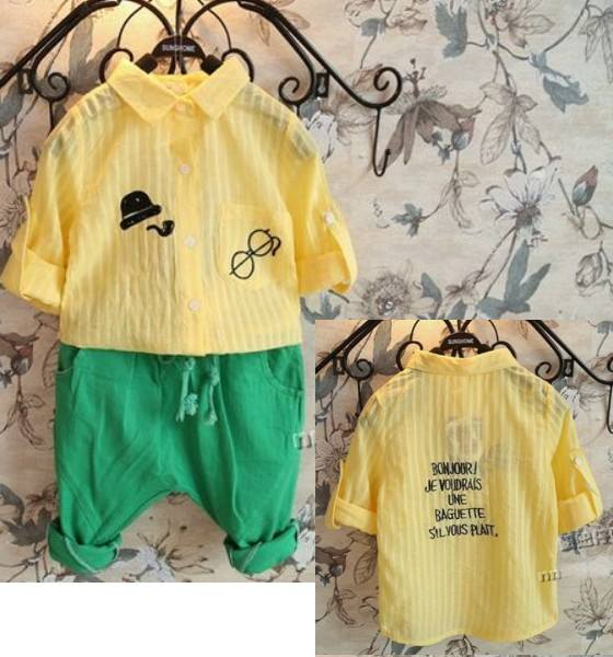 เสื้อเชิ๊ตแขนยาวสีเหลือง