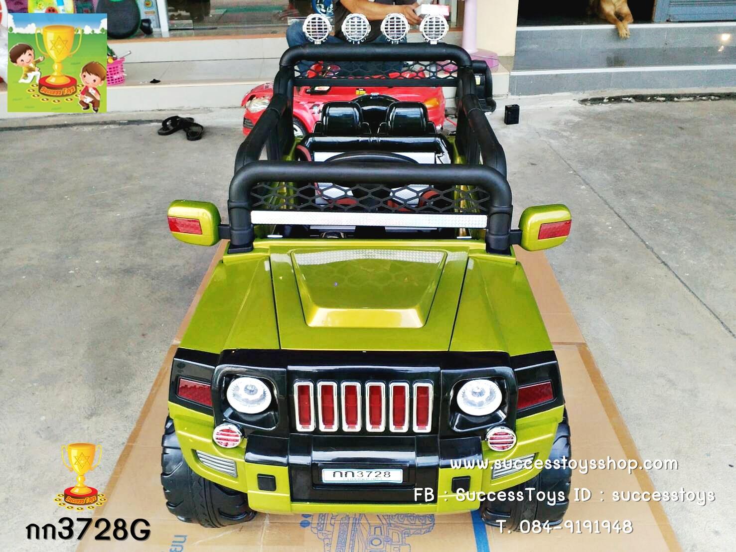 กก3728 รถจี๊ป 4wd ขับ4ล้อ มอเตอร์4ตัว มี 3 สี แดง เขียว ขาว