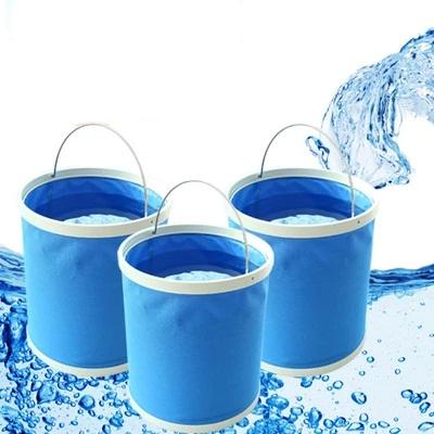 ถังอเนกประสงค์พับได้ ใส่ของ ใส่น้ำ บรรจุได้ 11 ลิตร
