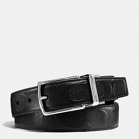 พร้อมส่ง เข็มขัดผู้ชาย COACH MODERN HARNESS CUT-TO-SIZE REVERSIBLE SIGNATURE LEATHER BELT F55158 : BLACK
