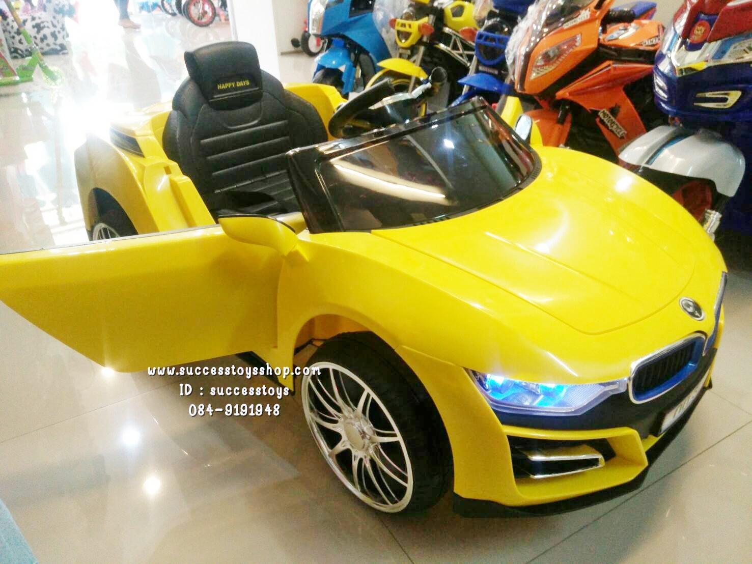 3181Y รถแบตเตอรี่ไฟฟ้า BMW I8 2 มอเตอร์ สีเหลือง