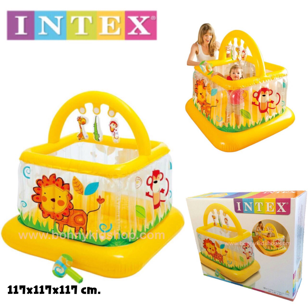 บ้านบอลเป่าลม คอกเด็กเป่าลม บ่อบอล Intex Soft Sides My First Lil' Babies And Toddlers Gym