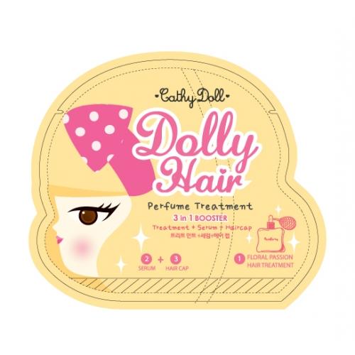 Cathy Doll Dolly Hair 3in1 Booster Treatment 15ml + Hair Cap 5ml ทรีทเม้นท์เข้มข้น + เซรั่มเข้มข้น + แฮร์แคปคลุมผม เหมาะสำหรับเส้นผมทุกประเภท ผมสวยเหมือนเข้าร้าน