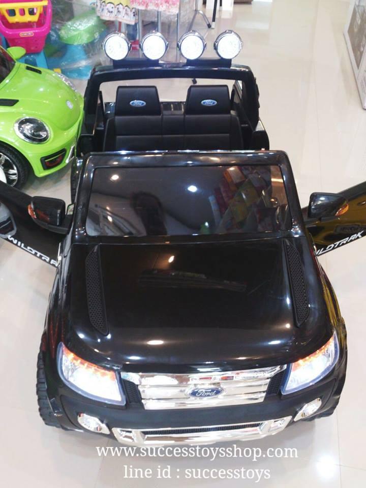 รถแบตเตอรี่เด็กนั่งไฟฟ้า Ford Ranger 2มอเตอร์ สีดำ