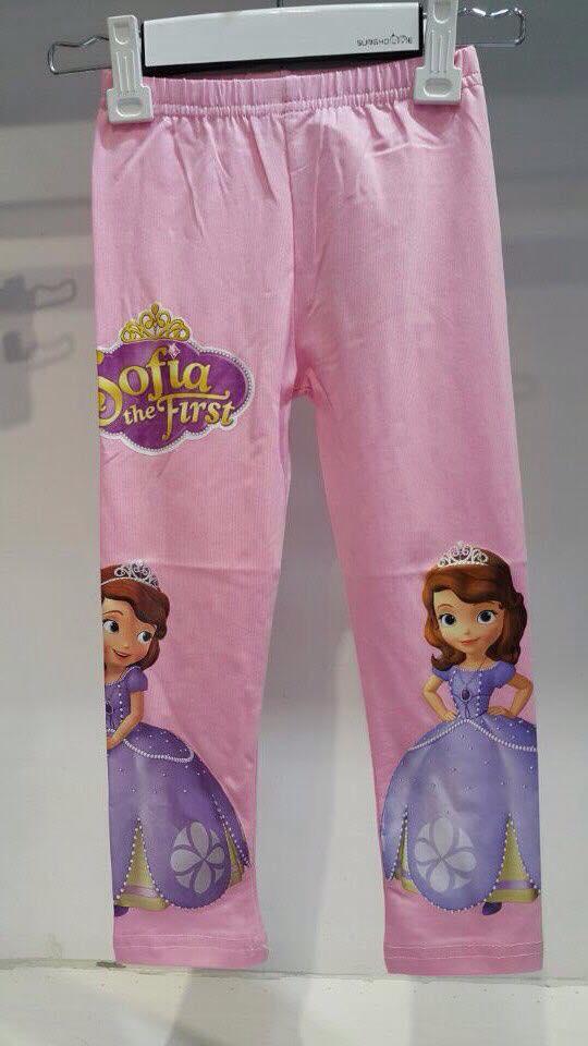 กางเกงเลคกิ้งสีชมพูลายโซเฟีย