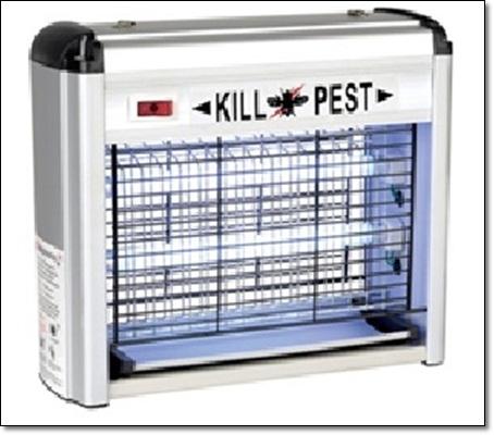 """เครื่องดักยุงและแมลงแบบติดผนังอลูมิเนียม """" KILL PEST """" ขนาด 12 วัตต์"""