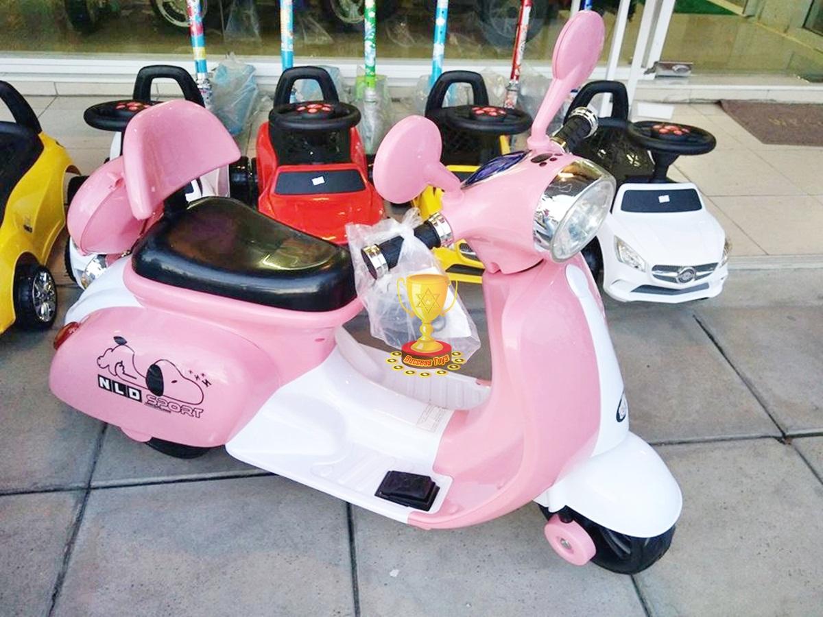 รถมอเตอร์ไซค์สนู๊ปปี้ สีชมพู